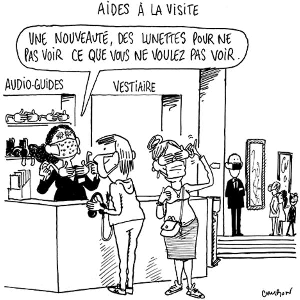 """Caricature signée Cambon extraite du """"Journal des Arts"""" (7 février)."""