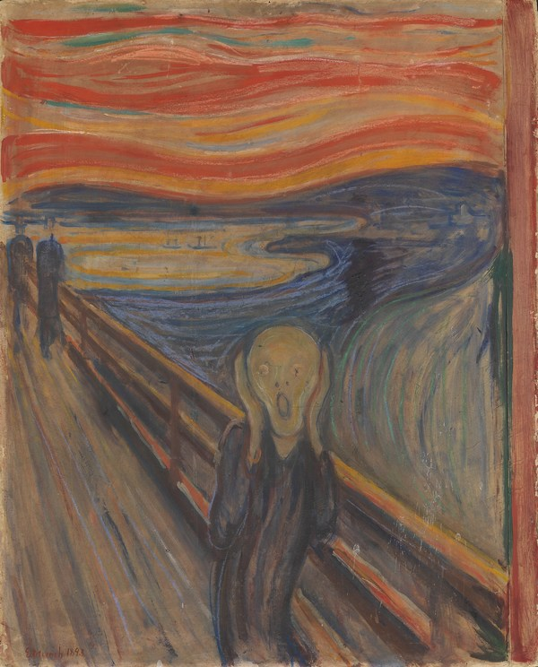 """""""The Scream"""" by Edvard Munch (photo by Borre Hostland; courtesy the National Museum)"""