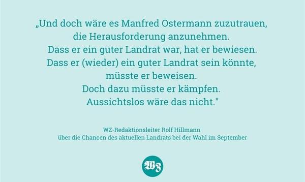 Ein Landrat soll gehen - Meinung - Walsroder Zeitung