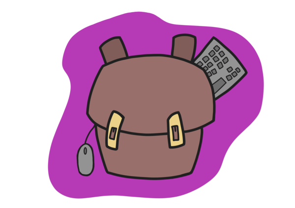 Yes, there will be doodles! This is my backpack 🎒