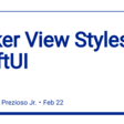 Picker View Styles In SwiftUI