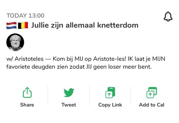 Jelmer de Boer schreef een slim stuk: Aristoteles op Clubhouse 🏛️
