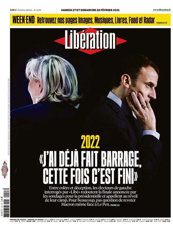 Libération, zaterdag 27 februari