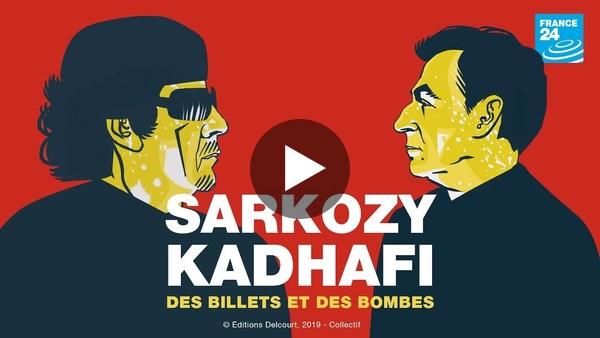 """""""Des billets et des bombes"""" : la BD choc qui revient sur l'affaire Sarkozy - Kadhafi"""