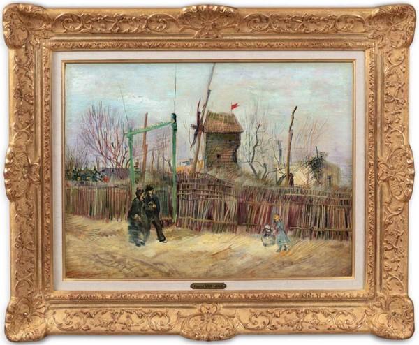 'Scène de rue à Montmartre' - olieverf op doek: Vincent van Gogh