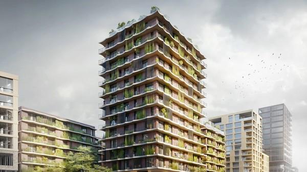À Hambourg, un bâtiment 100% recyclable ?