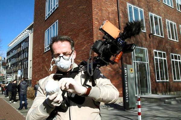 Journalismus in Corona-Zeiten: verschärfte Bedingungen. Foto: DJV/Anja Cord
