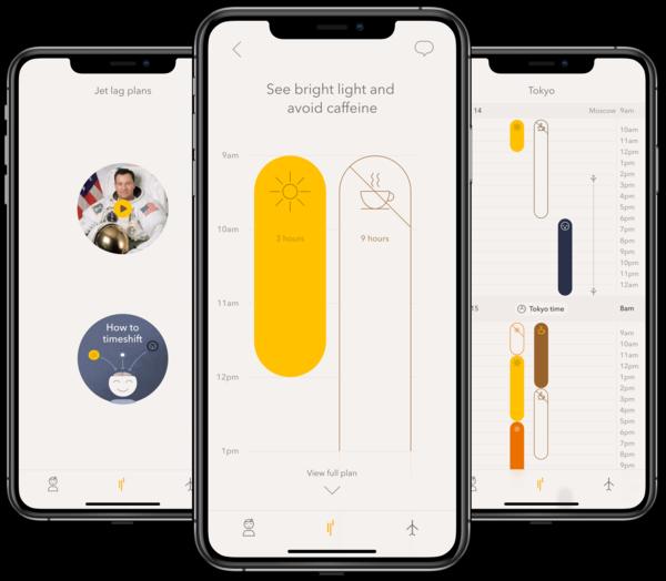 Timeshifter: App for Jet Lag