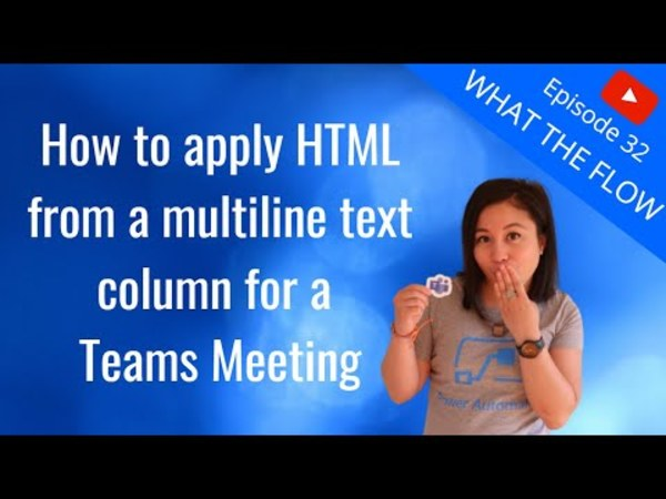 How to apply HTML to a Teams Meeting from Microsoft Dataverse ~ Benitez Here.