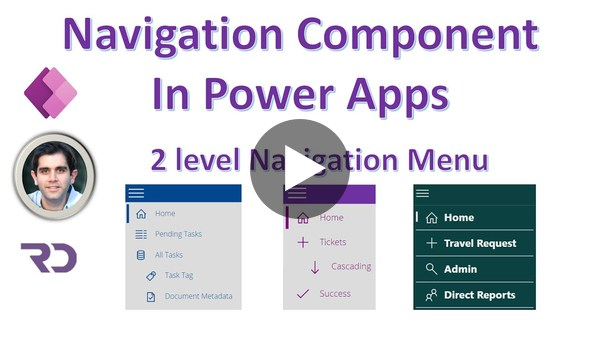 Power Apps Navigation Menu Component (2 level)