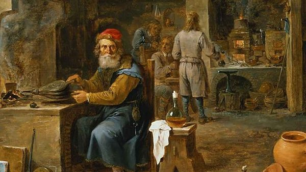 The Alchemist Michał Sędziwój, a painting from Julian Tuwim's collection, 19th century, photo: Museum of Literature / East News
