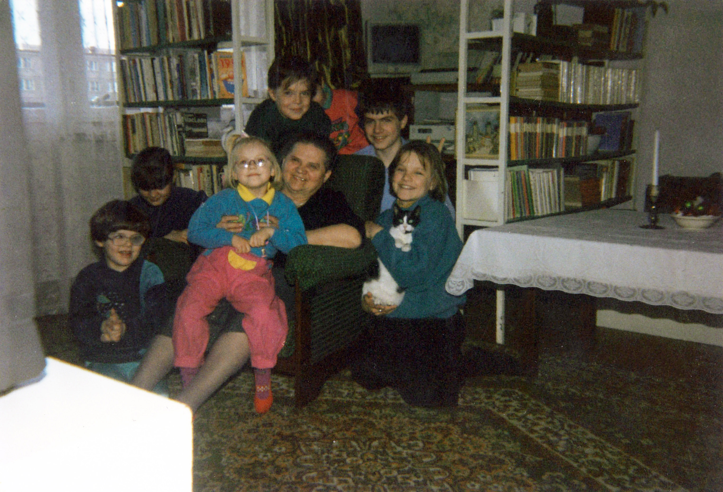 This old family photo is the only quasi appearance of the Larry computer and the keyboard