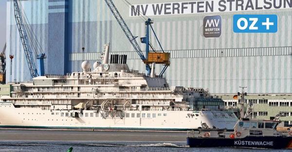 Testfahrt der Crystal Endeavor: Dann könnte die Expeditionsyacht Stralsund verlassen