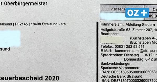 Verwirrung um Grundsteuerbescheid in Stralsund: Hagelt es jetzt Mahnungen?