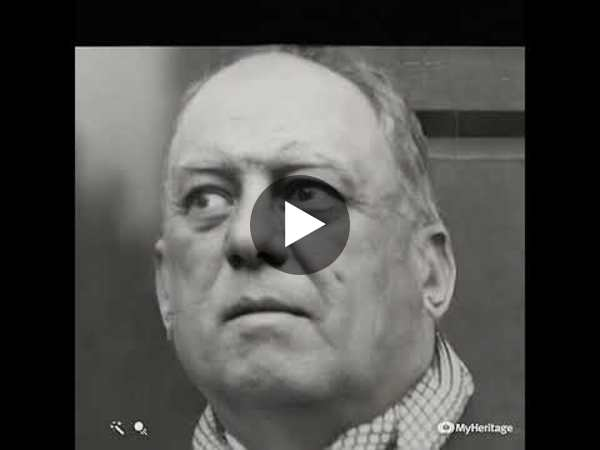 Aleister Crowley's crazy eyes stare. Animated.