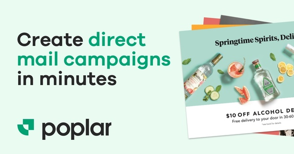 Create direct mail campaigns in minutes.
