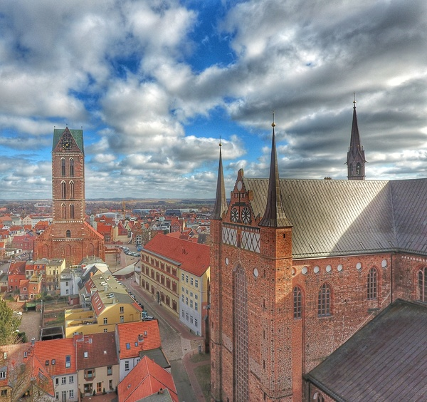 Wismar aus der Drohnen-Perspektive (Foto: Danny Winkler)