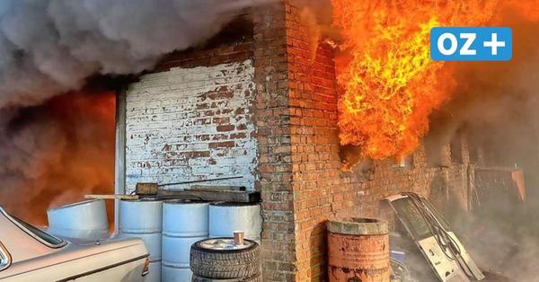 Damgarten: Gefährlicher Feuerwehreinsatz auf KVG-Gelände
