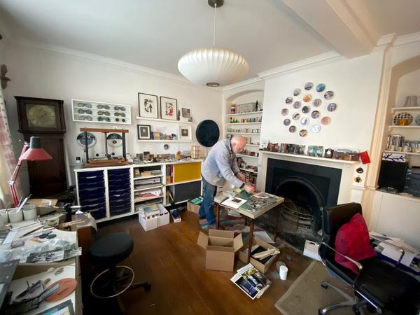 David Rhys Jones in his studio