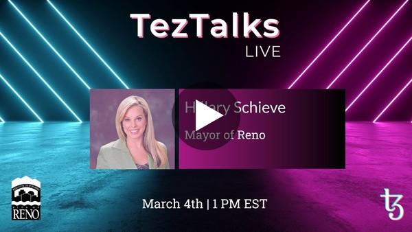 TezTalks Live #23 - Hillary Schieve
