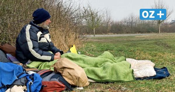 Obdachlos in Grevesmühlen: Stefan L. lebt auf der Wiese am Stadtrand