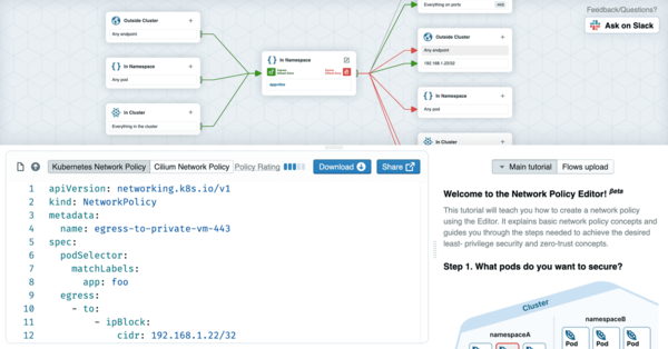 NetworkPolicy Editor: Create, Visualize, and Share Kubernetes NetworkPolicies — Cilium