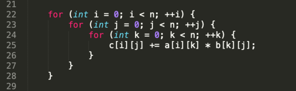 typical matrix multiplication
