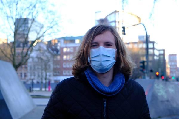 Lasse Jonathan van der Veen-Liese, créateur du Klimacamp de Hambourg (Lilith Sauer)