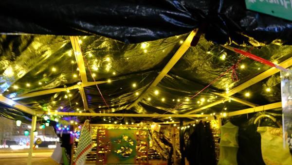 Sous la tonnelle du «camp climat» de Hambourg (Lilith Sauer)