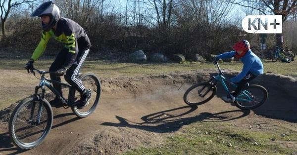 Neuer Dirtpark in Seth für Akrobatik mit dem Mountainbike