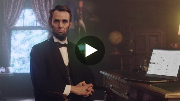 Abraham Lincoln Discovers His Family History on MyHeritage