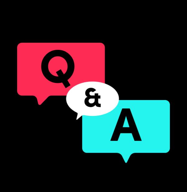 TikTok agora com Perguntas & Respostas