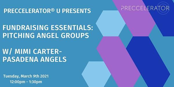 Preccelerator® U Presents: Fundraising Essentials: Pitching Angel Groups   12:00 PM