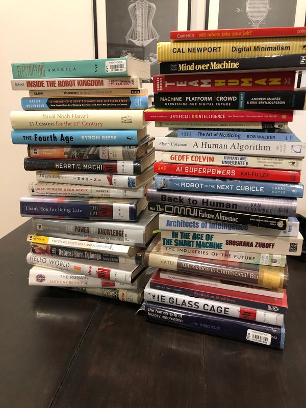 A fraction of the books in my AI/automation stash