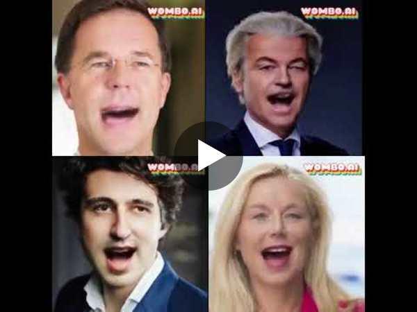 Dutch politicians RickRolling. Wombo.ai Test