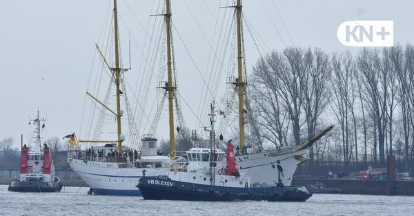 """Die """"Gorch Fock"""" hat endlich wieder Wasser unter Kiel"""