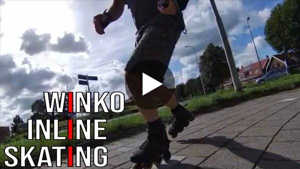 WOUBRUGGE - Een rondje skeeleren met Winko vanuit Leiderdorp (video)