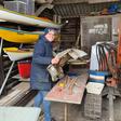 Nieuwvener maakt molen ter ere van de bovenmolen van de polder Oudendijk