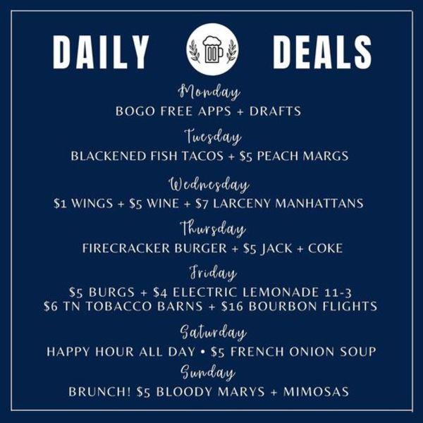 Public House Daily Deals!