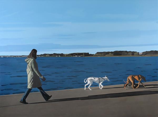 Petr Malina, Walk, 170 x 230 cm, oil on canvas, 2011