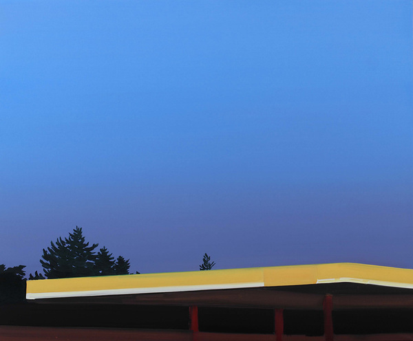 Petr Malina, Gas Station, 100 x 120 cm, oil on canvas, 2008