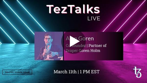 TezTalks Live #24 - Alon Goren