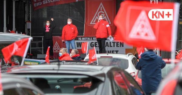 Auto-Demo in Kiel: Tausende Metaller im Warnstreik