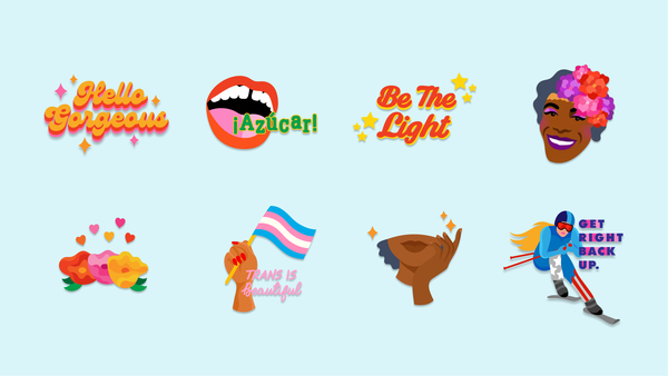 Messgenger stickers for Women's History Month