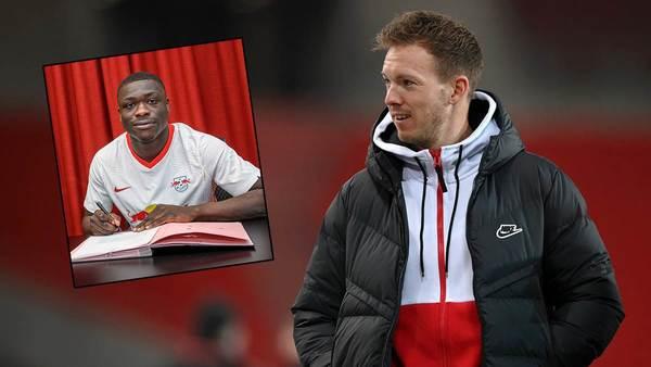 """Nagelsmann über RB Leipzigs Neuzugang Brobbey: """"Muss nicht sofort spielen wie Lukaku"""""""