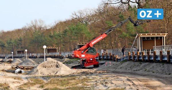 Boltenhagens Dünenpromenade: Hälfte der Hütten für Strandkorbvermieter steht
