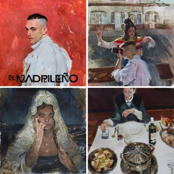 Collage propio. Pinturas de las portadas de Iván Floro.