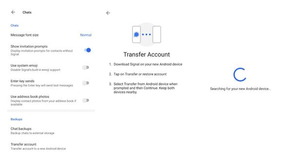 Signal Messenger beta now allows transferring your account to a new Android device over a local and protected wifi