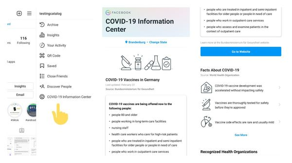 Instagram is rolling out Covid-19 information center to everyone