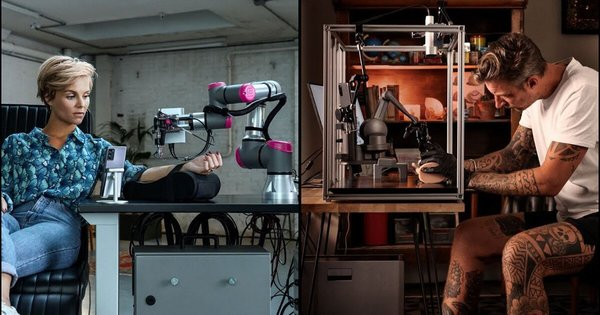 world's first-ever remote tattoo needled by robot arm via 5G network